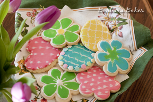 Sugar Cookies with Glacé Icing