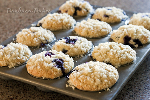 Best Blueberry Streusel Muffins recipe from Barbara Bakes