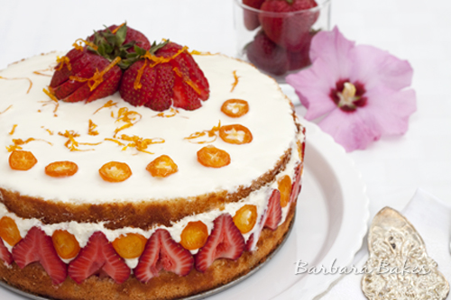 Strawberry-Mango-Fraisier-Cake