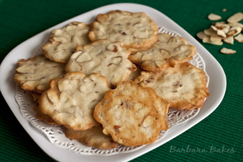 Almond Cookie Crisps for 12 weeks of Christmas Cookies
