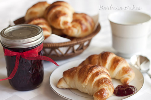 Julia Child\'s Croissants with Quick Blackberry Jam