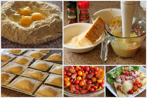 Ravioli-with-Cherry-Tomato-Compote-Collage