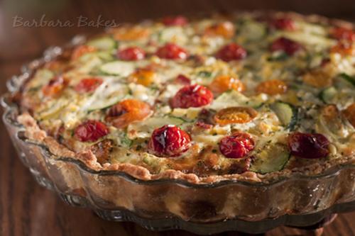 Zucchini-Tomato-Quiche