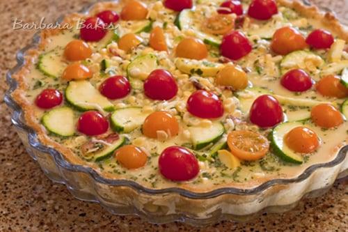 Zucchini-Tomato-Quiche-Unbaked