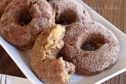 Baked-Apple-Cinnamon-Sugar-Donuts-Barbara-Bakes