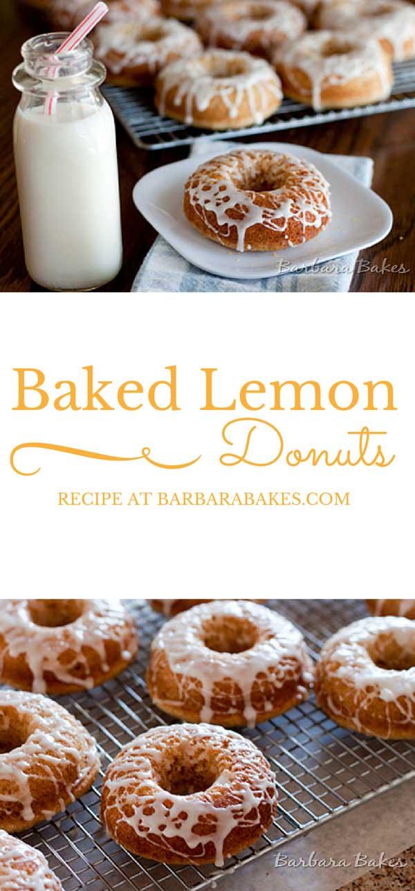 Baked-Lemon-Donuts-Barbara-Bakes Collage