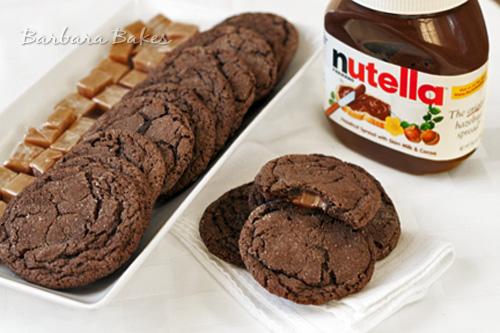 Chocolate-Nutella-Caramel-Filled-Cookies-Barbara-Bakes