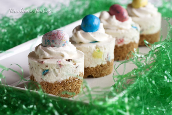 Robin Eggs No-Bake Cheesecake for Easter