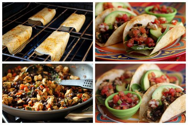 Crispy-Baked-Chicken-Black-Bean-Tacos-Barbara-Bakes-Collage