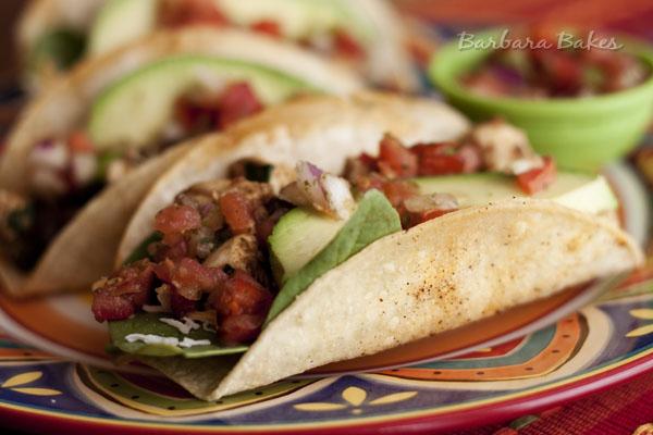 Crispy Baked Chicken Black Bean Tacos