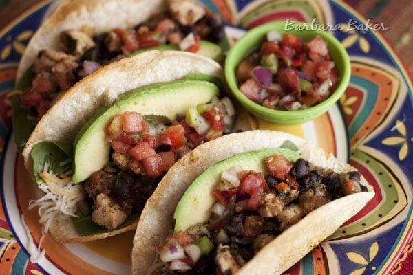 Crispy-Baked-Chicken-Black-Bean-Tacos
