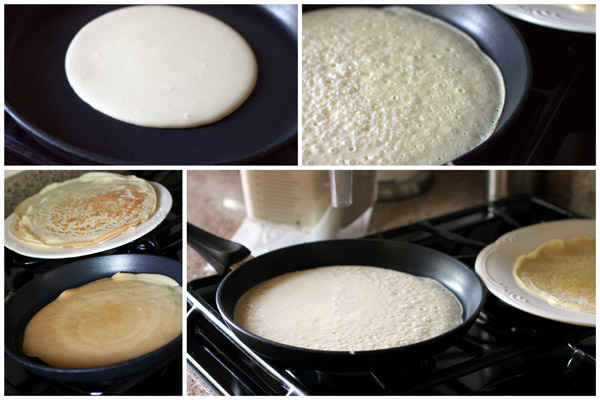 collage of How to Make Crepes Step By Step