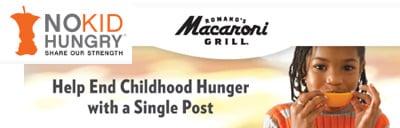 No-Kid-Hungry-Macaroni-Grill-Logo