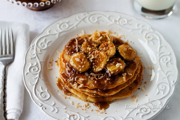 Coconut-Bananas-Foster-Pancakes