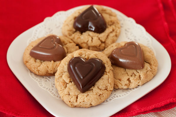 Peanut Butter Oatmeal Chocolate Valentine Cookies @Barbara Bakes