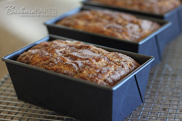 Snickerdoodle Bread recipe from Barbara Bakes