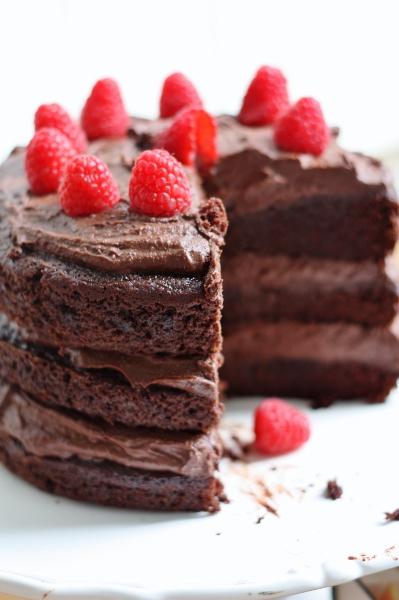 Hazelnut Chocolate Mousse Cake