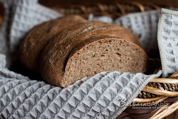 Whole Spelt Bread Recipe | BarbaraBakes.com