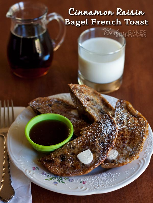 Featured Image for post Cinnamon Raisin Bagel French Toast