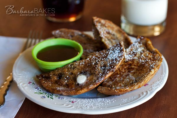 Cinnamon Raisin Bagel French Toast | Barbara Bakes