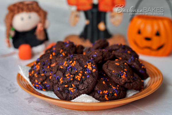 Halloween Double Chocolate Chocolate Chip Cookies
