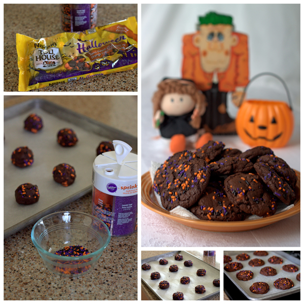 Halloween Chocolate Chocolate Chip Cookies Collage | Barbara Bakes