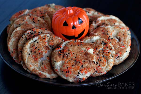 Featured Image for post Halloween Snickerdoodles with Cinnamon Chips