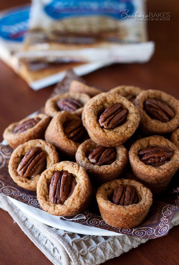 Turtle Peanut Blossom Cookie Cup Recipe | Barbara Bakes
