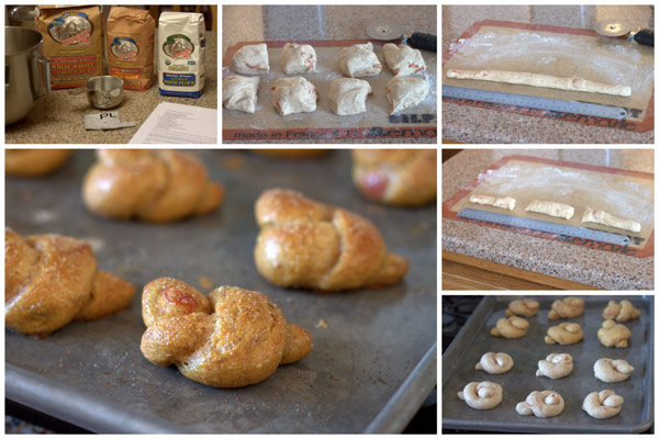 Collage of Whole Wheat Pepperoni Pretzel Knots Collage