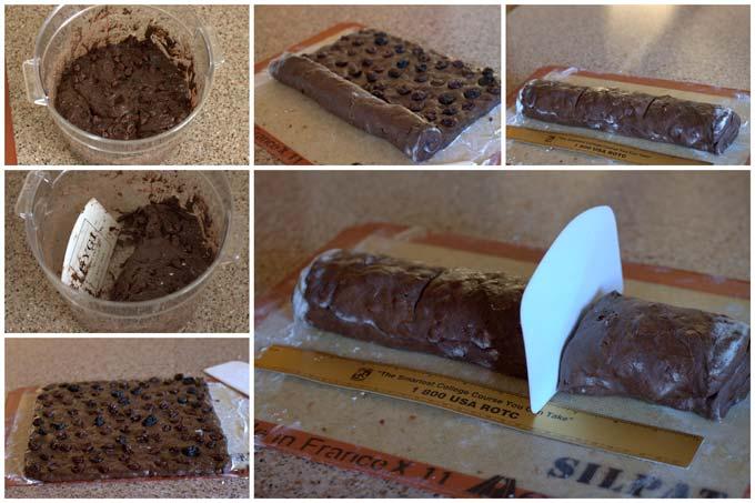 Chocolate Chocolate Chip Cherry Sweet Rolls Collage