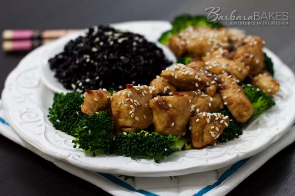 A better-for-you sweet and spicy orange chicken that\'s quick and easy to make at home. @Barbara Bakes #dinner