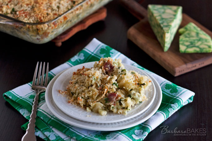 Featured Image for post Baked Sage Derby Macaroni and Cheese