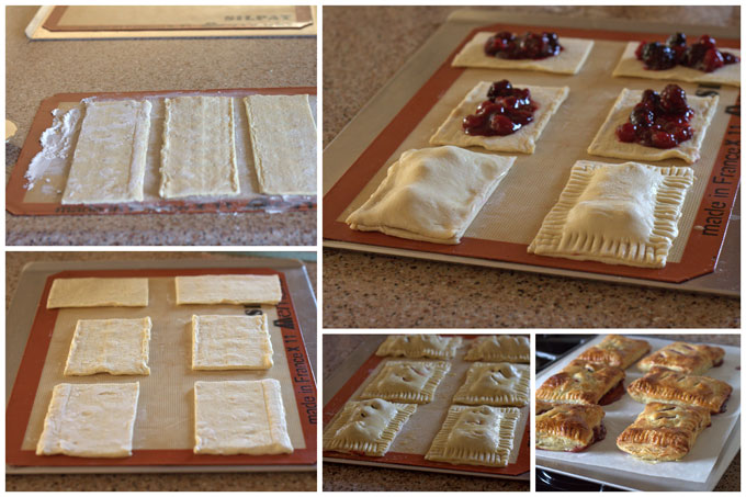 Collage of How to Make Raspberry Hand Pies