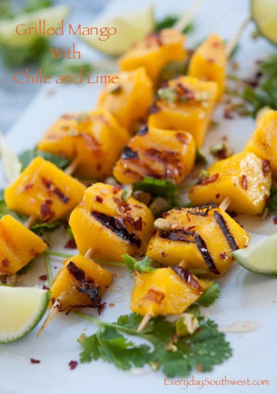 Grilled Mango with Honey and Pistachios from Everyday Southwest