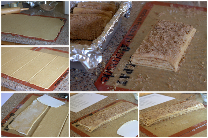 Collage of Shaping Whole Wheat Caramel Pecan Pull-Apart Bread