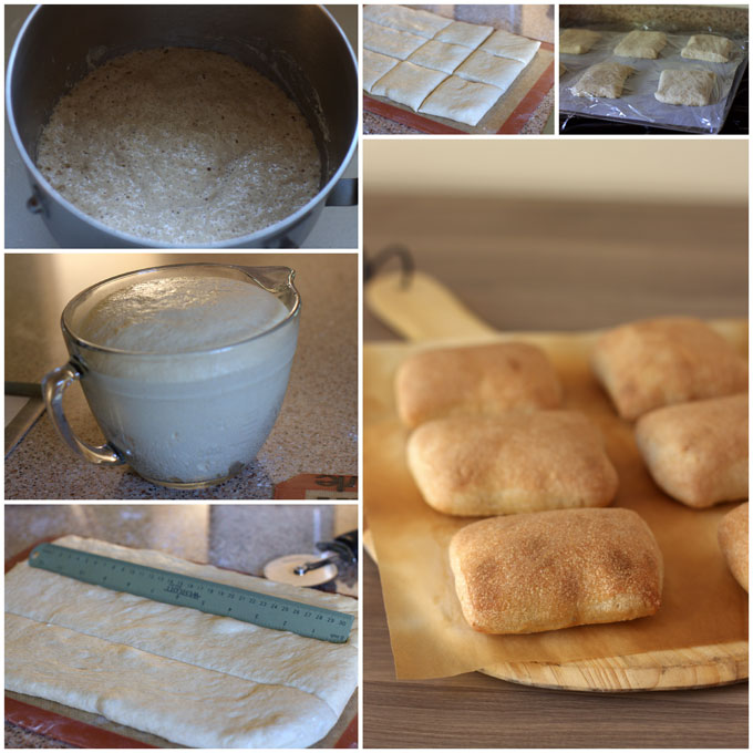 Collage of how to make Whole Wheat Torta Rolls