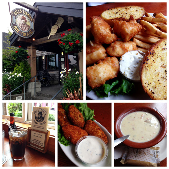 Collage from Bills Tavern Cannon Beach Oregon
