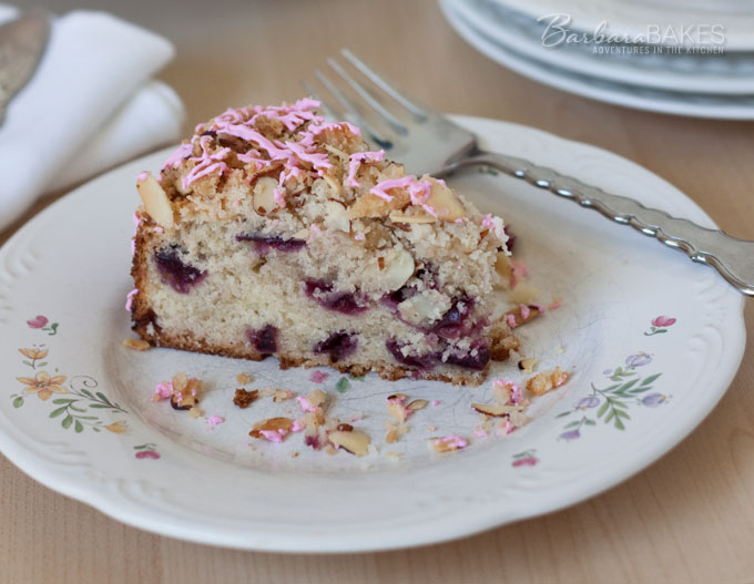 Featured Image for post Cherry Almond Streusel Coffee Cake