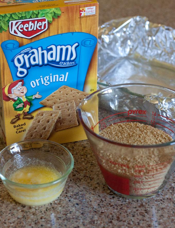 Making a graham cracker crust