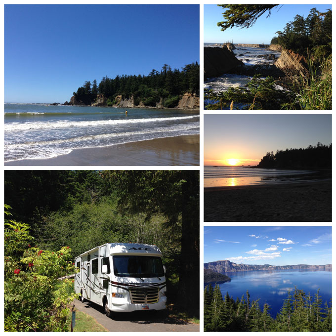Collage from Sunset Beach State Park, Coos Bay Oregon