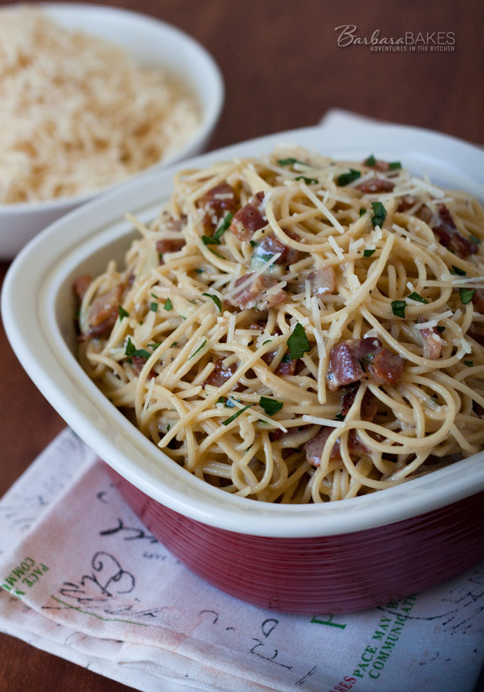 Pasta Carbonara - quick, and easy to make dinner recipe.