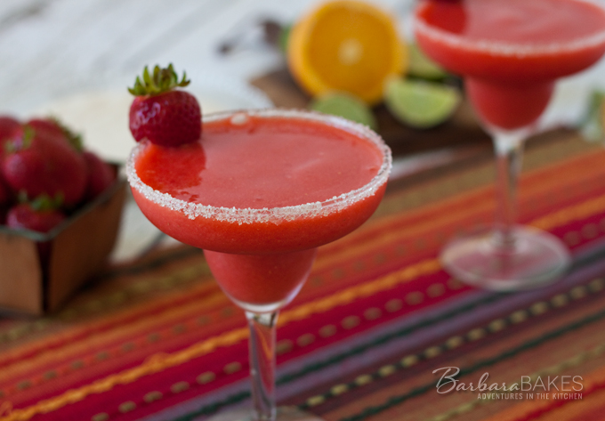 Featured Image for post Frozen Virgin Strawberry Margarita