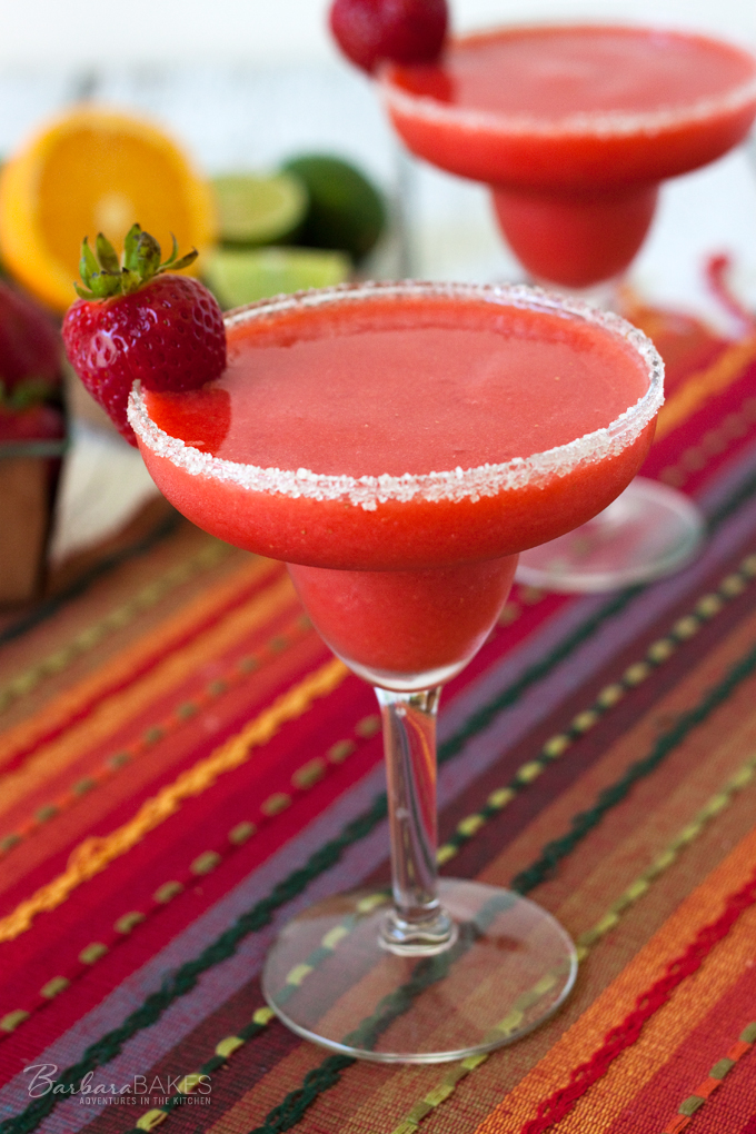 Frozen Virgin Strawberry Margarita Barbara Bakes