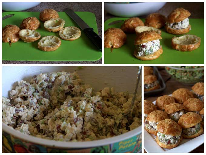 Making Chicken Salad Gougeres from Barbara Bakes