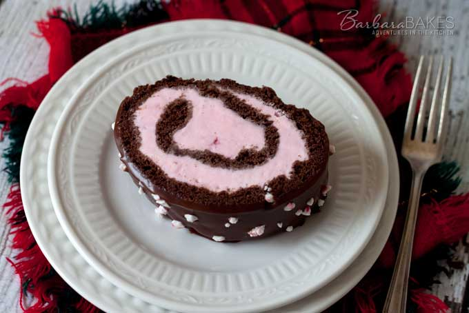 Featured Image for post Chocolate Peppermint Ice Cream Cake Roll