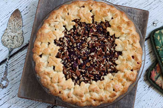 Cranberry Pecan Pie - perfect for Thanksgiving