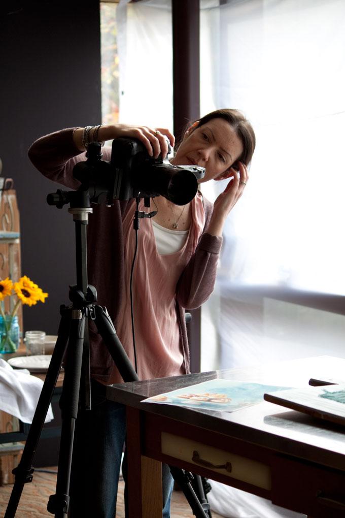 Helene Dujardin photographing Dream Puffs