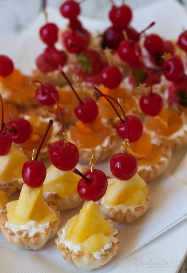 No-Bake Strawberry Margarita Cheesecake Bites, Pina Colada Cheesecake Bites, and Orange Sunrise Cheesecake Bites from Barbara Bakes