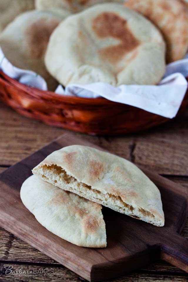 Whole Wheat Pita Bread - a fun pocket bread