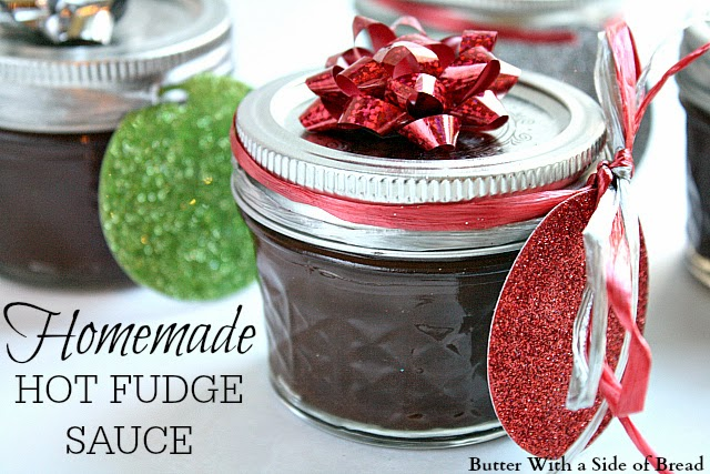 Homemade Hot Fudge Sauce from Butter with a Side of Bread